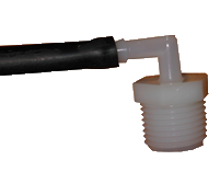 Poultry waterer hose connector